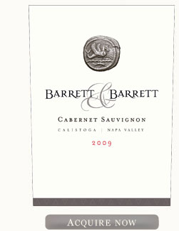 Barrett and Barrett Cabernet Sauvignon 2009