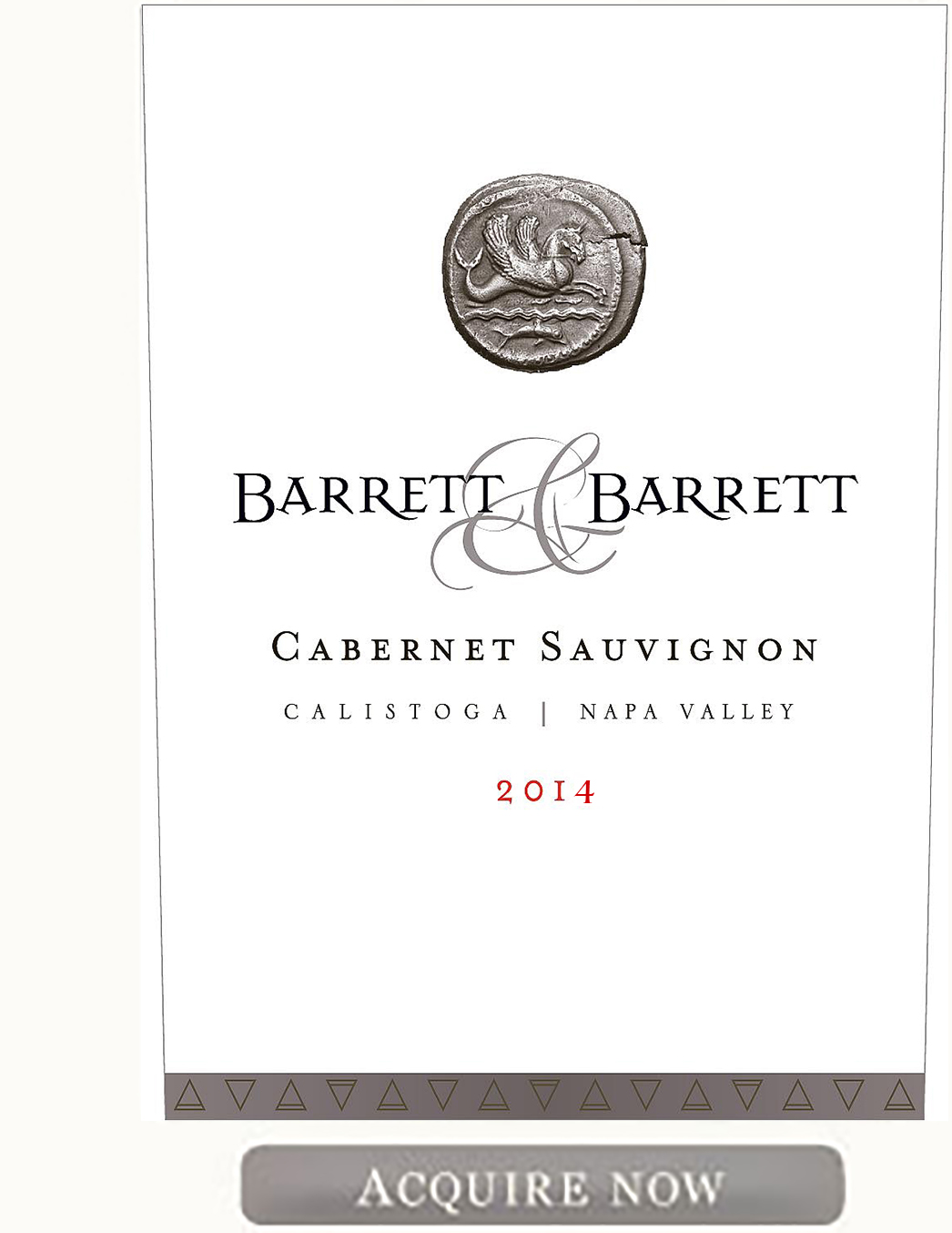 Barrett and Barrett Cabernet Sauvignon 2014